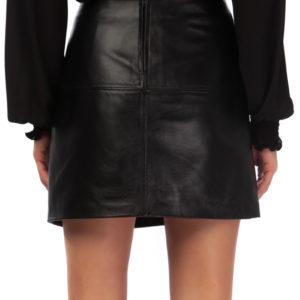 mini leather skirt black