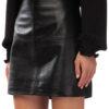 MIKKO Mini leather Skirt in black