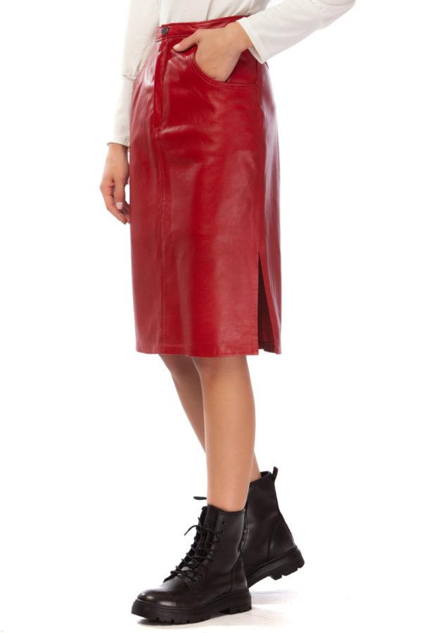 MIKKO Pencil Leather Skirt