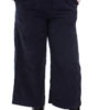 Short wide leg corduroy trousers