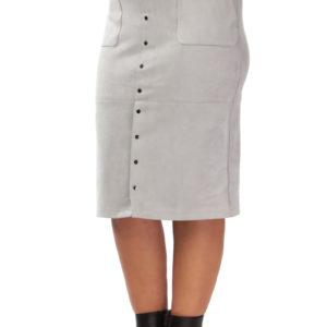 pencil skirt faux suede