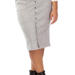 pencil skirt faux suede