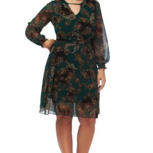 Γυναικείο Φόρεμα με λαχούρ σχέδιο