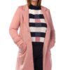 Oversized coat in pink