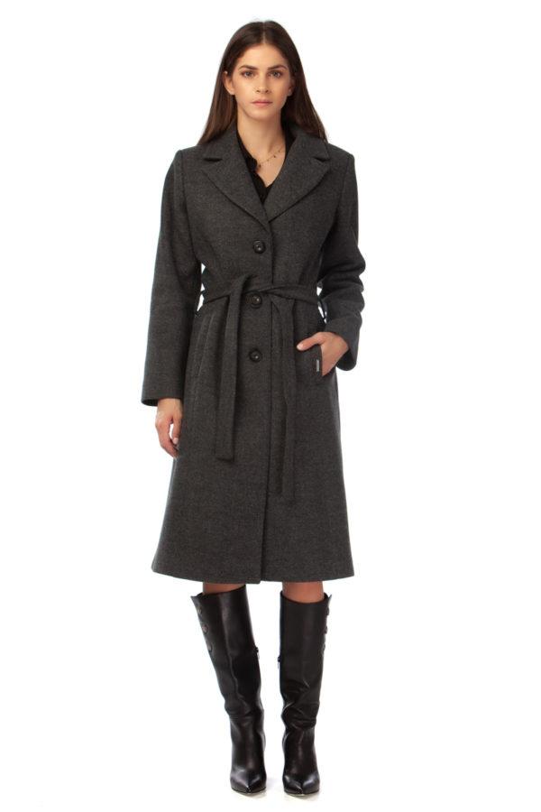 Knee-length coat