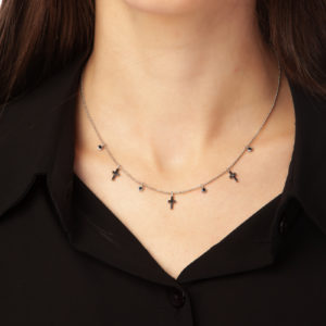 sterling silver necklace crucifixes misantra, misantra, μισαντρα