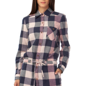 Cotton checked dress