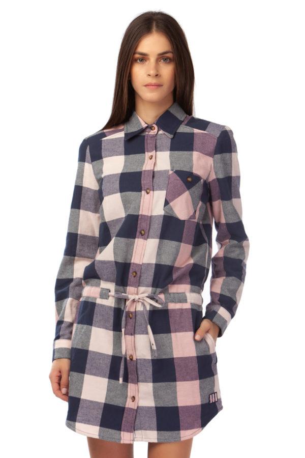 Cotton checked dress