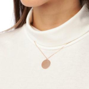 disk necklace rose gold