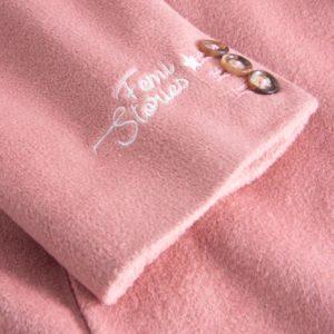 oversized coat pink