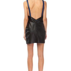 mini leather dress, misantra, μισαντρα