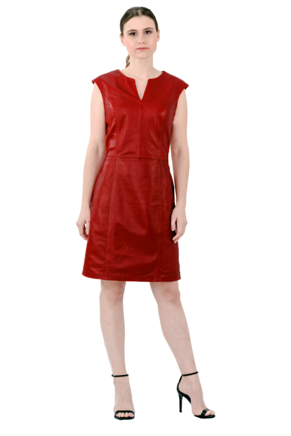 red leather dress, misantra, μισαντρα