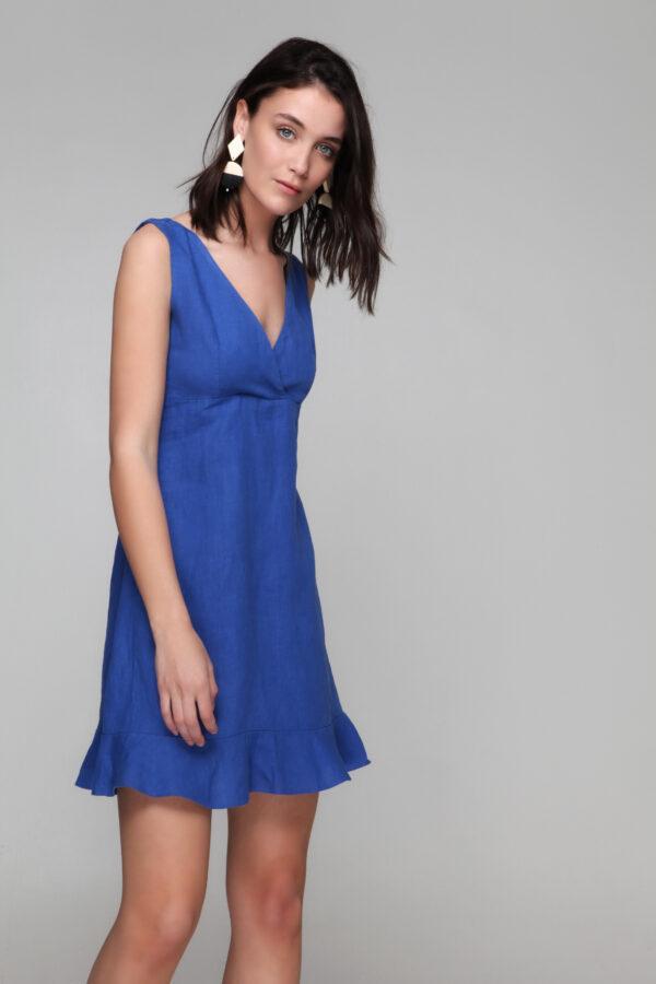 Sleeveless linen dress