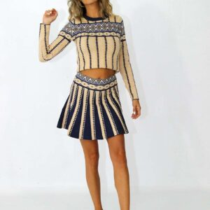 skirt and top in boho style