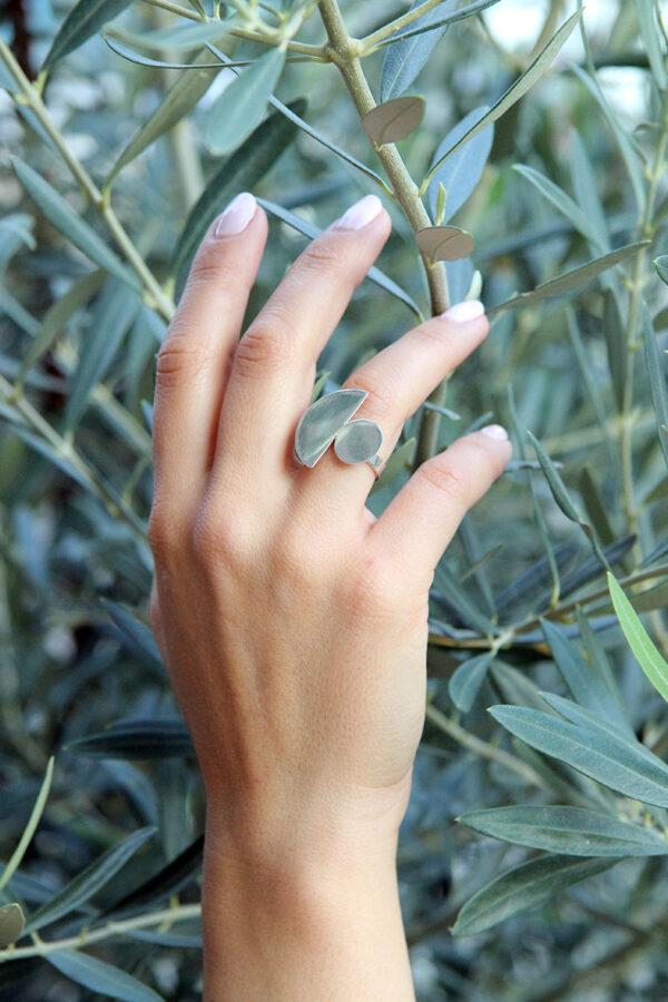 MIKKO silver ring, misantra fashion