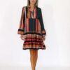 Dress in multicolor