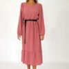 Midi smock dress in cantaloupe