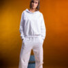 Basic sweat & jogger set in white