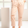 High elasticated soft jean in baby pink