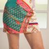 Mini skirt in multicolor print