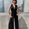 Polymorphic jumpsuit in black